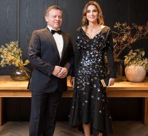 Le roi Abdallah II de Jordanie et son épouse la reine Rania en Allemagne pour recevoir le prix de la paix, le 7 octobre 2016.
