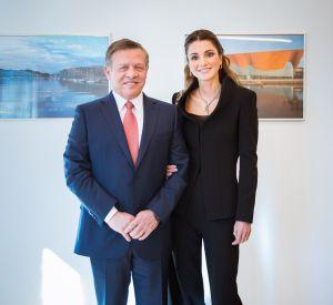 Le roi Abdallah II de Jordanie et son épouse la reine Rania en voyage officiel en Allemagne.