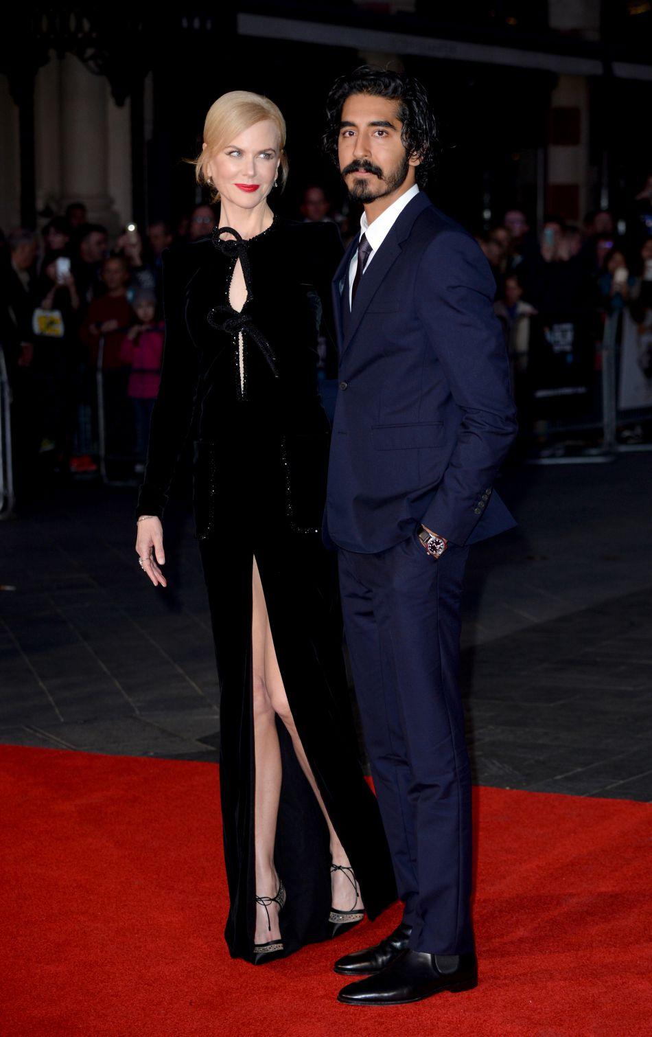 Nicole Kidman présentait le film  Lion  avec l'acteur Dev Patel.