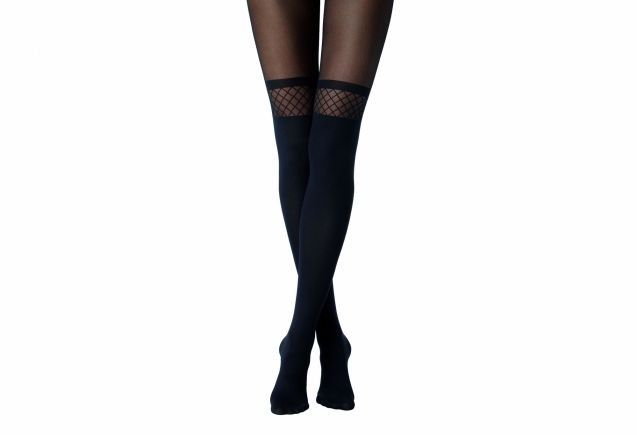 Collant effet chaussettes hautes motif résille, Calzedonia, 9,95€.