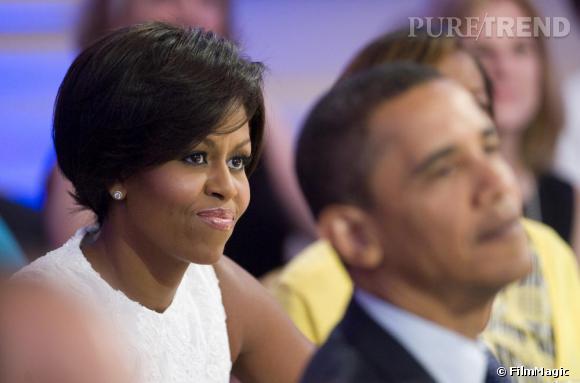 """Michelle Obama le 21 juillet avec sa """"nouvelle coiffure"""""""