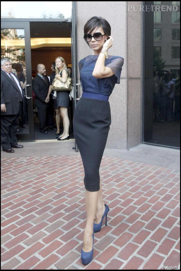 Victoria Beckham, chic en jupe crayon Puretrend