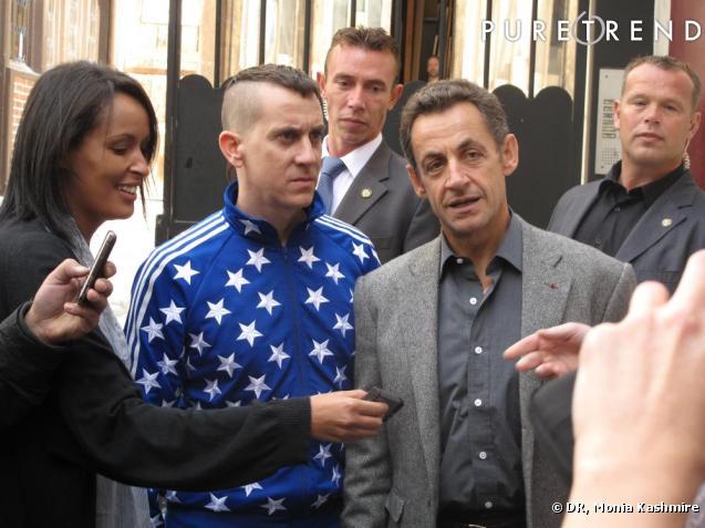 Nicolas Sarkozy et Jeremy Scott dans le 11e arrondissement de Paris