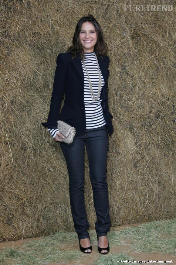 Virginie Ledoyen au defilé printemps-été 2010 de Chanel