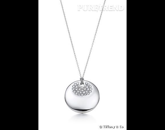 Métal pavé    Quand l'éclat du diamant répond à la brillance du platine, l'harmonie est parfaite !     Pendentif en platine pavé de diamants, Elsa Peretti pour Tiffany & Co