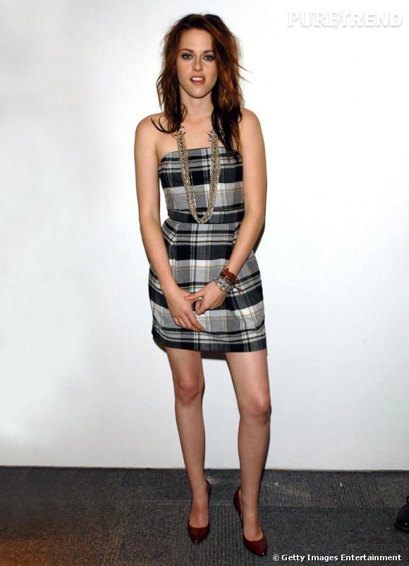 Malgré l'air coquin qu'elle affiche, Kristen se tient à carreaux