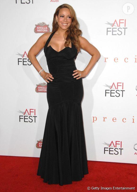 Mariah Carey lors de la projection de Precious à Hollywood