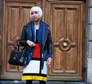 Cécile et la robe Mondrian