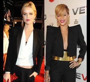 Eva Herzigova Vs Rihanna : qui porte le mieux les épaulettes ?