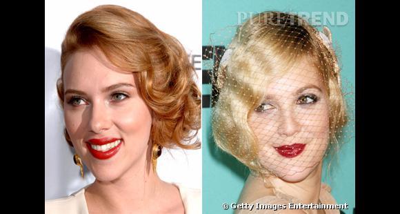 Selon vous, qui a la plus belle coiffure vintage : Scarlett Johansson ou Drew Barrymore ?