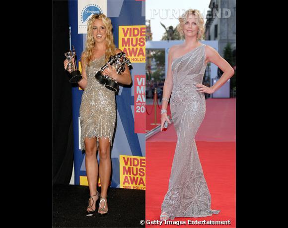 Qui de Charlize Theron et Britney Spears porte le mieux la robe Atelier Versace ?