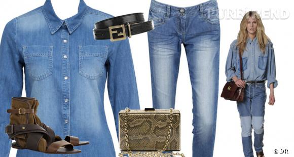 Porter la chemise en jean