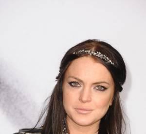 Lindsay Lohan, découvrez son look 100% imitation Karl Lagerfeld !