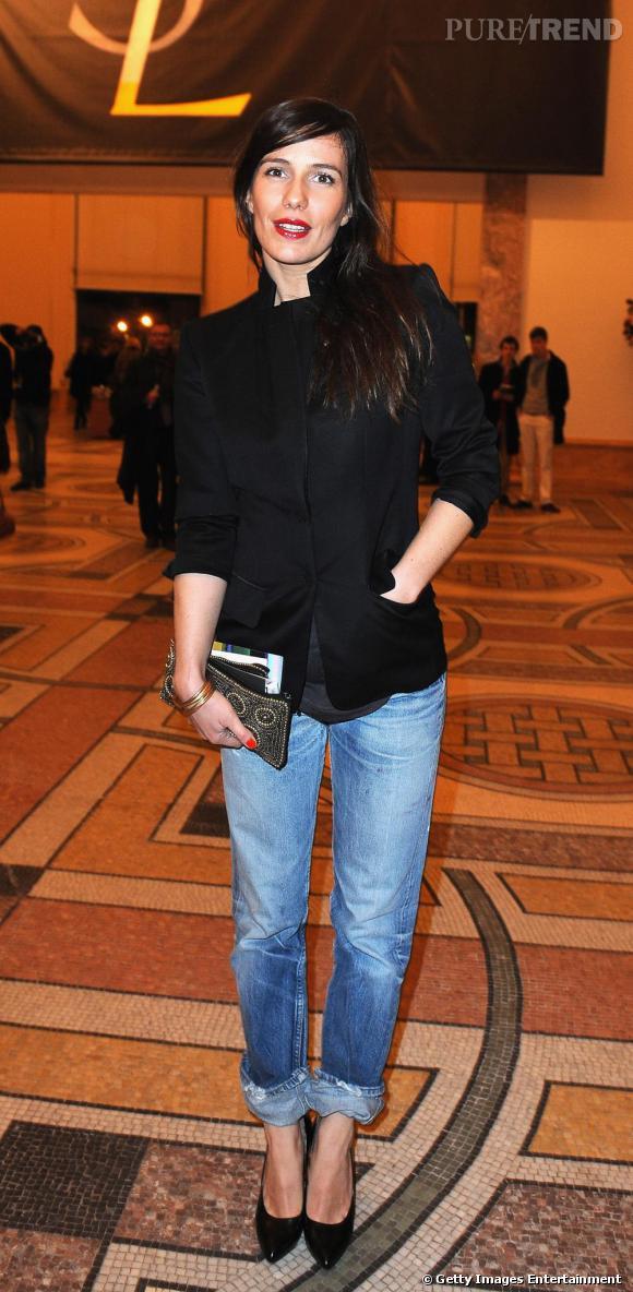 Zoé Félix lors du vernissage au Grand Palais de l'exposition Yves Saint Laurent