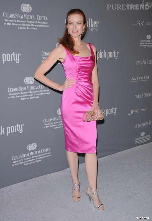 Marcia Cross, une desperate housewife très girly.