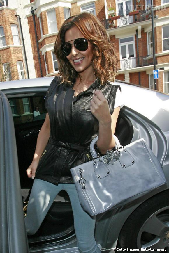 Cheryl Cole arrivant à l'émission de radio Live Lounge de la BBC