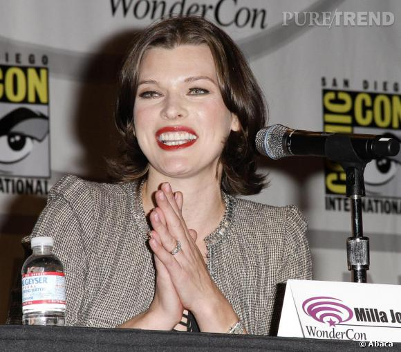 Milla Jovovich lors de la promotion de son prochain film Resident Evil à San Diego