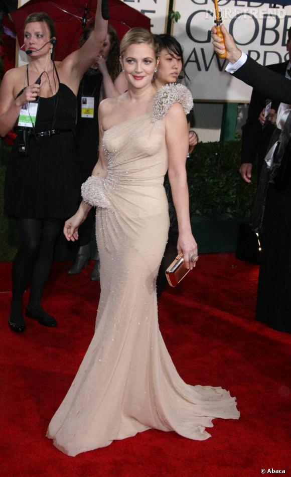 La robe de sirène selon Drew Barrymore