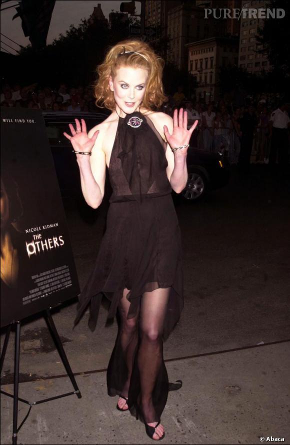 Une robe transparente pour Nicole, très audacieuse au début des années 2000.