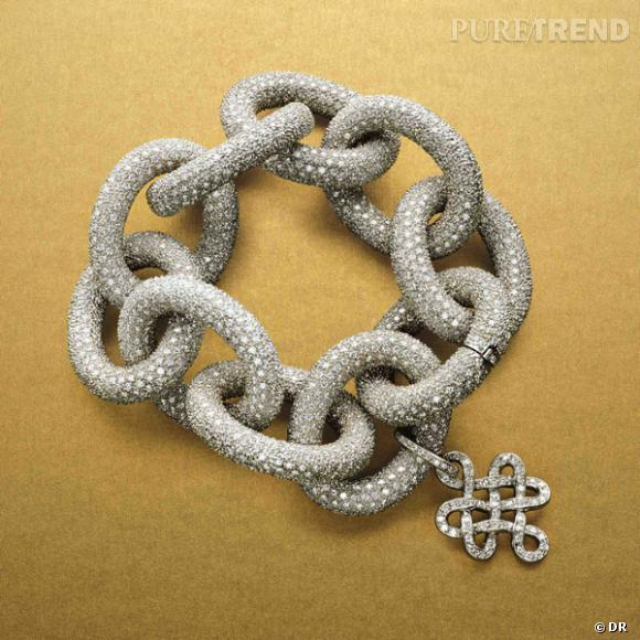 Bracelet Diane von Furstenberg par H.Stern       Bracelet en or blanc et diamants.    Prix :  de 66300€ à 173700€