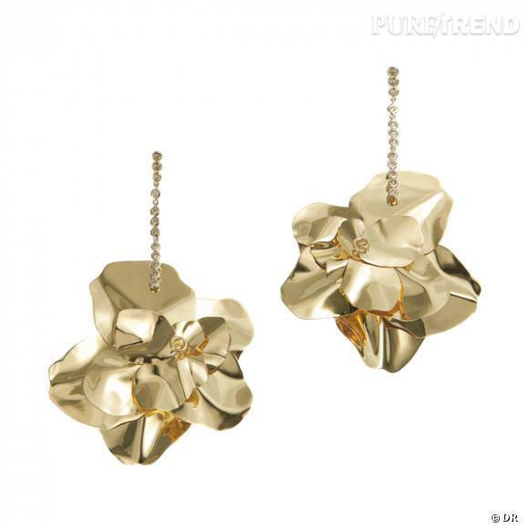 """Boucles d'oreilles """"Giardino di Boboli"""", H. Stern       Boucles d'oreilles en or jaune et diamants.    Prix :  de 1000€ à 6600€"""