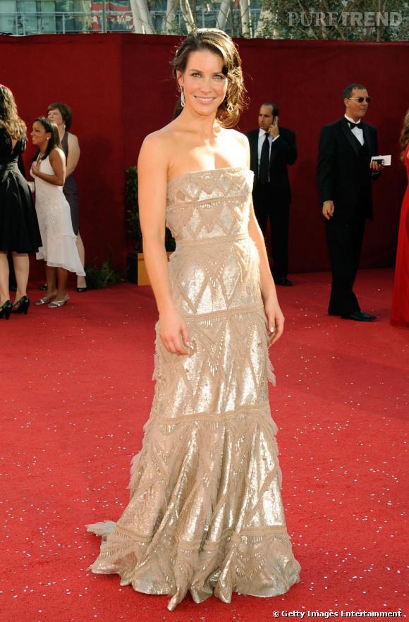 Evangeline se fait un look de sirène glitter sur le tapis rouge