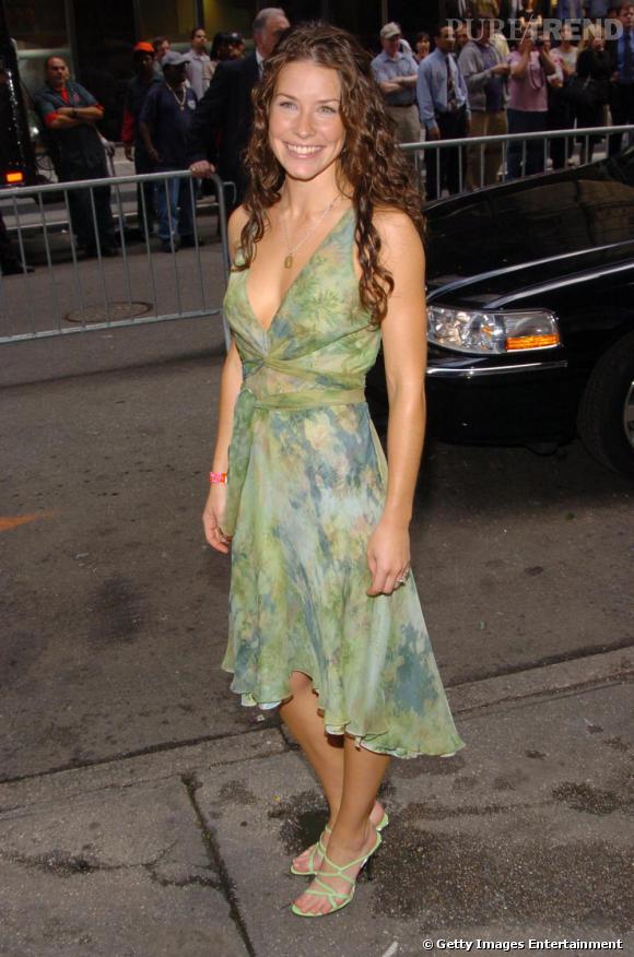 Evangeline Lilly a le sourire mais pas vraiment de style