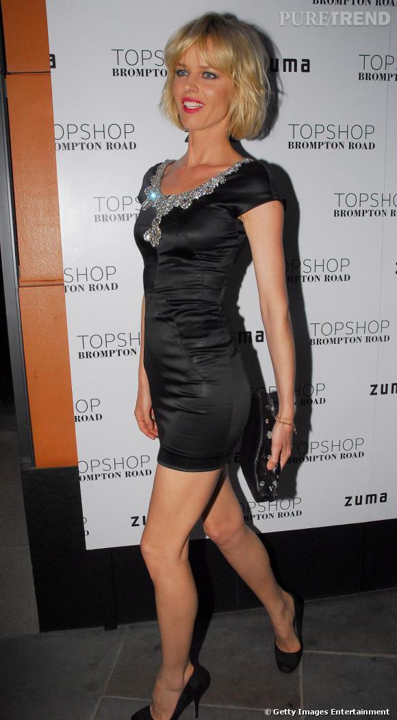 Eva Herzigova lors de la soirée Topshop à Londres