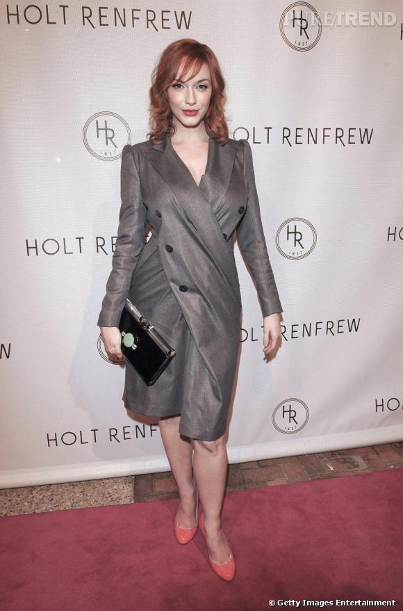 L'actrice de Mad Men, Christina Hendricks, sublime ses courbes dans une robe David Szeto.
