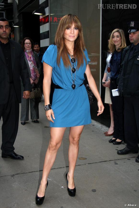 """Jennifer Lopez en David Szeto pour participer à l'émission """"Good Morning America"""" à New York en avril 2009."""