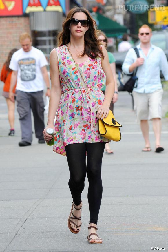 Liv Tyler dans le quartier de Soho, New York.
