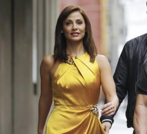 Natalie Imbruglia avait opté pour une tenue très jaune, mais terriblement élégante lors des premières auditions de X Factor.
