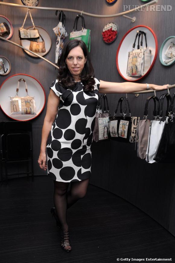 Barbara Rihl lors de la soirée d'ouverture de sa boutique