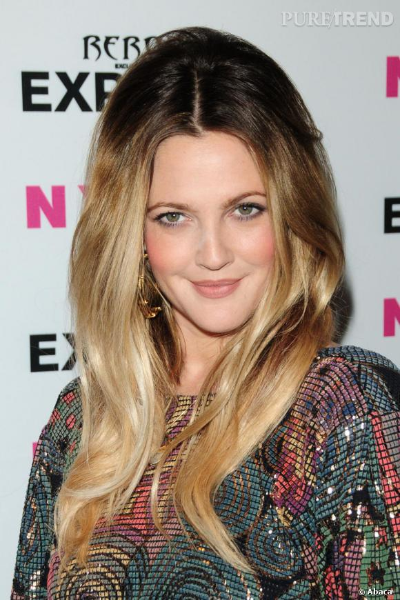 Drew Barrymore à la soirée Nylon+Express Denim August Issue.