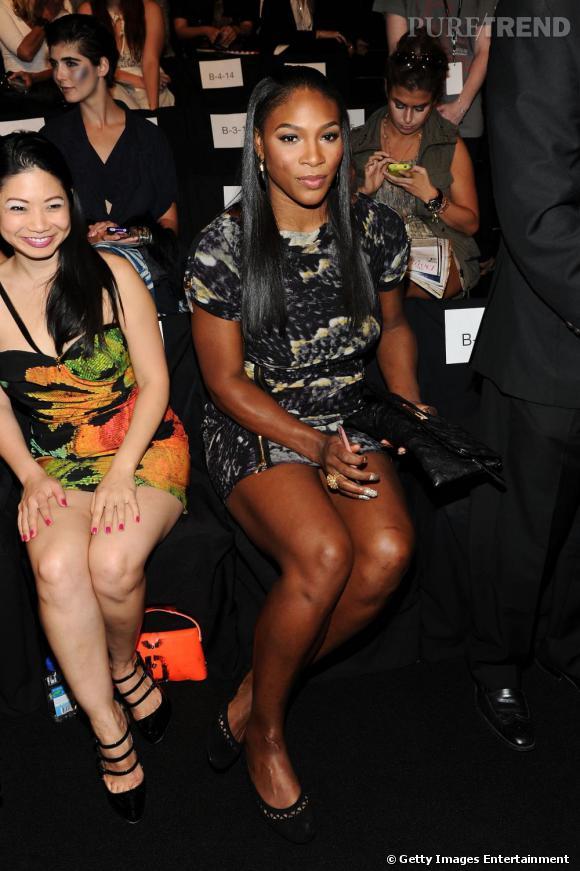 Serena Williams au défilé Vivienne Tam.