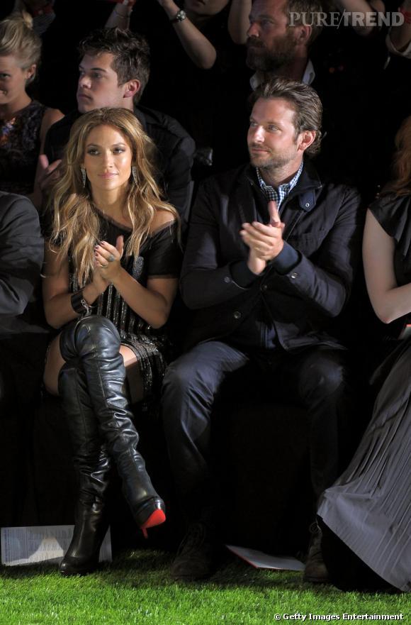 Jennifer Lopez et Bradley Cooper au défilé Tommy Hilfiger.