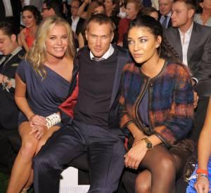 Rebecca Romijn, Jason Lewis et JEssica Szohr au défilé Tommy Hilfiger.