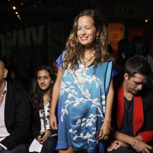 Jade Jagger au défilé DKNY.