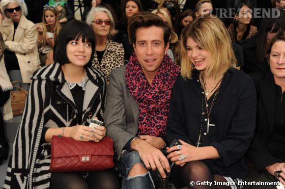 Lily Allen, Nick Grimshaw et Pixie Geldof au défilé Topshop Unique.