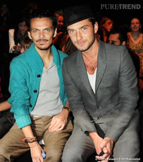 Matthew Williamson et Jude Law, front row au défilé Twenty8Twelve.