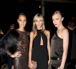 Anja Rubik et Raquel Zimmermann à la soirée Gucci.