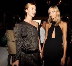Raquel Zimmermann et Anja Rubik lors de la soirée Gucci.