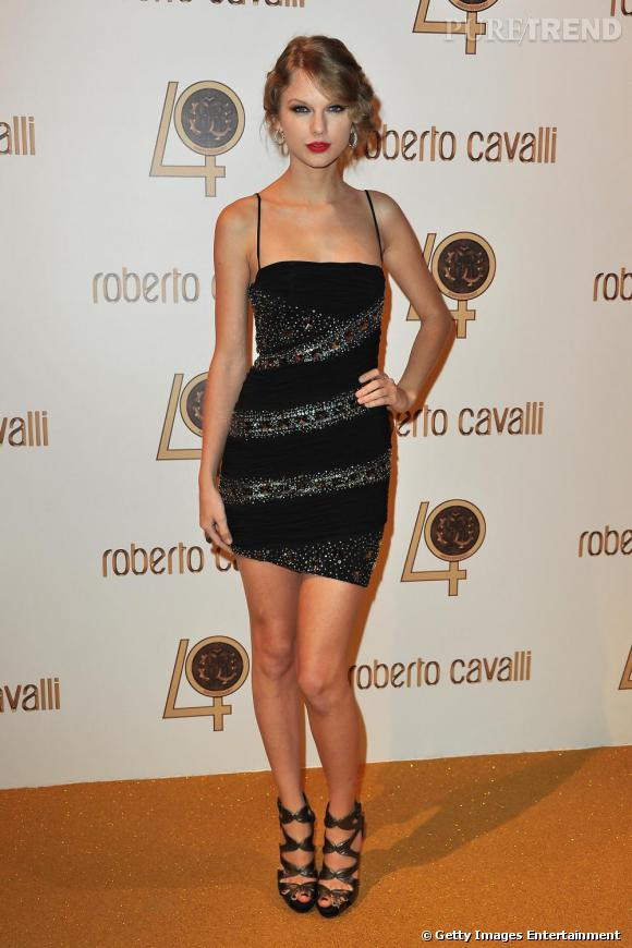 La chanteuse Taylor Swift lors de la soirée Roberto Cavalli.