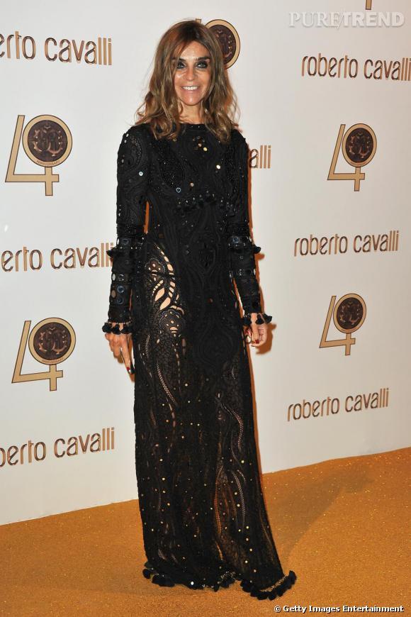 Carine Roitfeld chez Roberto Cavalli.