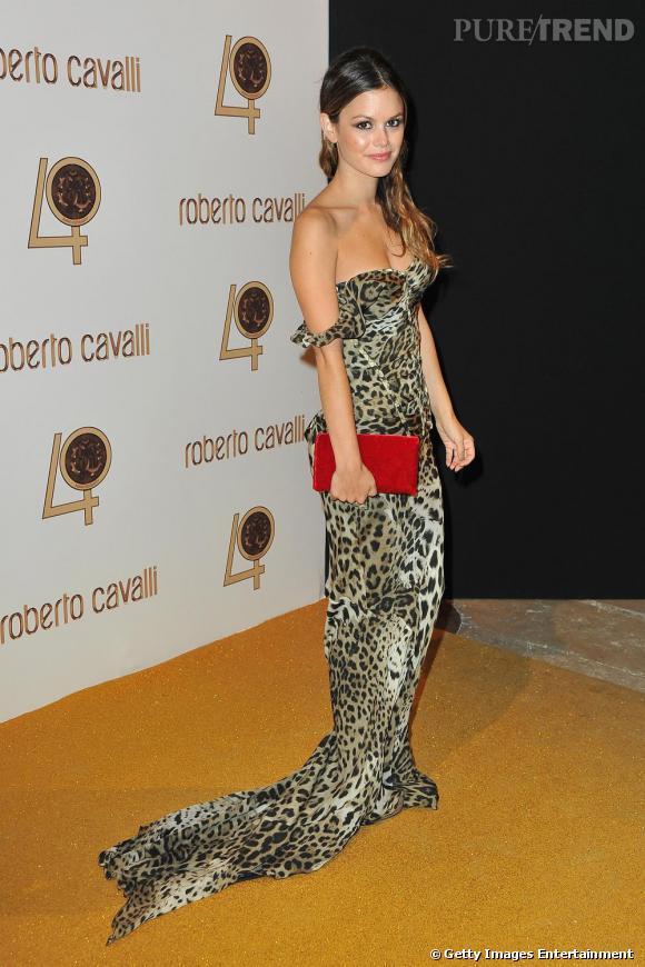 Total look léopard pour la jolie Rachel Bilson.
