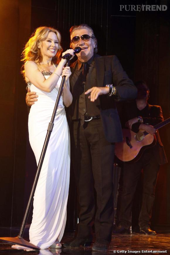 Kylie Minogue et Roberto Cavalli.