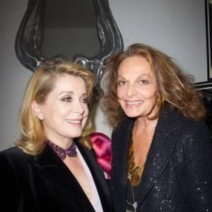 Catherine Deneuve et Diane Von Furstenberg à la Maison Darré.