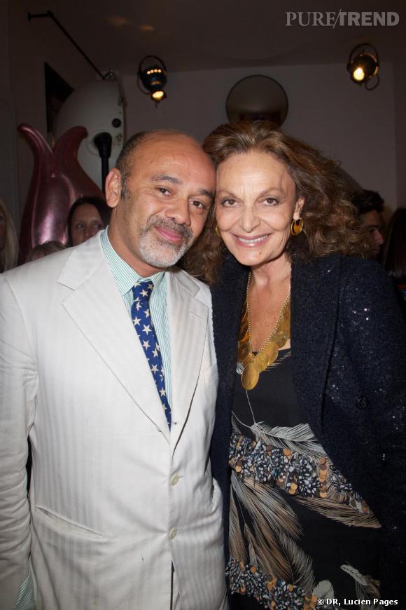 Christian Louboutin et Diane Von Furstenberg à la Maison Darré.