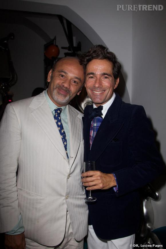 Christian Louboutin et Vincent Darré à la Maison Darré.