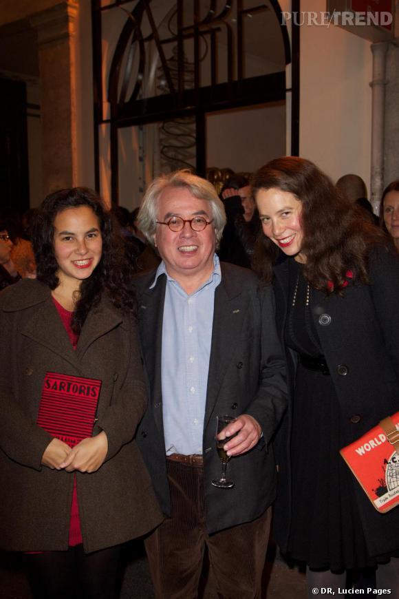 Cleo, Pierre et Olympia Le Tan à la Maison Darré.